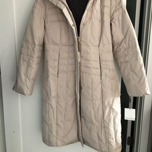 NWT Calvin Cline quilt down jacket, size S
